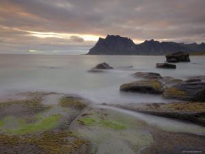 Sunset Over Utakleiv, Vestvagoya, Lofoten Islands, Norway, Scandinavia by Gary Cook