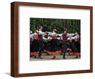 Traditional Latvian Folk Dancing, Near Riga, Baltic States