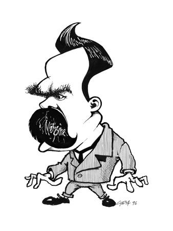 Friedrich Nietzsche, Caricature