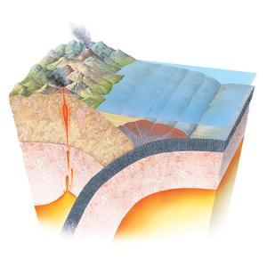 Accretionary Prism At a Subduction Zone by Gary Hincks