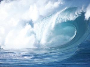 Big Waves on the North Shore of Oahu, HI by Gary Hofheimer