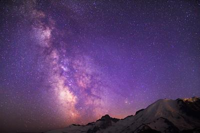 Milky Way (Constellation Sagittarius), Mt Rainier NP, Washington, USA