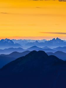 USA, Washington State. Skyline Divide in the North Cascades, Mt. Baker. by Gary Luhm