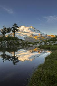 Washington, Mt. Baker Reflecting in a Tarn on Park Butte by Gary Luhm