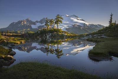 Washington, Mt. Baker Reflecting in a Tarn on Park Butte