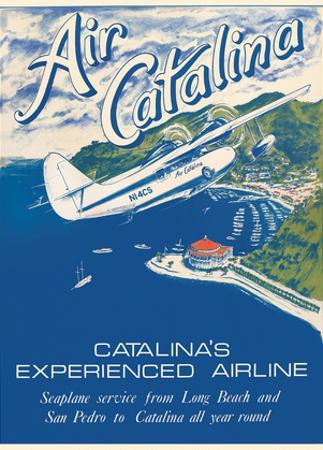 Santa Catalina Island, California - Grumann Goose Airplane - Air Catalina Airline