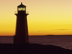 Peggy's Cove at Sunset, Nova Scotia, Canada. by Gary Murray