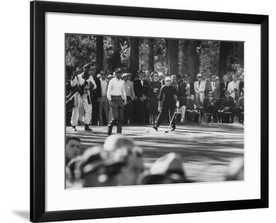 Gary Player on 14th Hole, Looking for His Drive--Framed Photographic Print