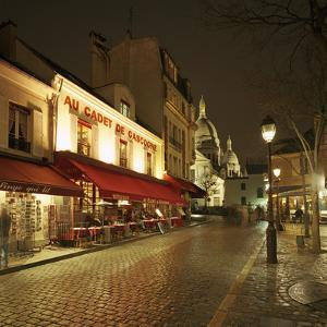 Montmartre District with Sacre-Coeur at Night by Gary Yeowell