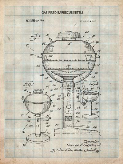 Gas Fired Grill Patent-Cole Borders-Art Print