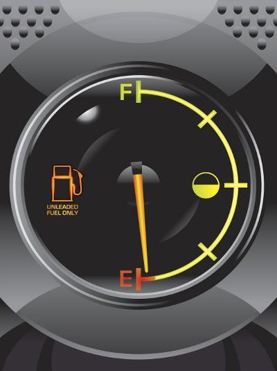 Gas Gauge on Empty--Photo