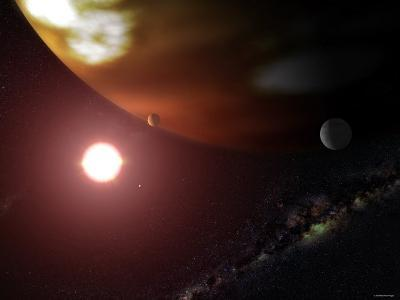 Gas Giant Planet Orbiting the Cool, Red Dwarf Star Gliese 876-Stocktrek Images-Photographic Print