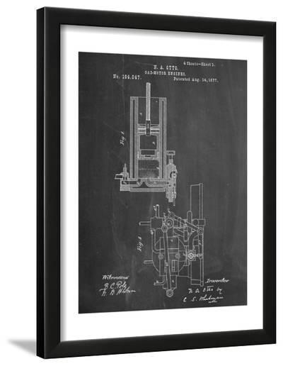 Gas Motor Engine Patent--Framed Art Print
