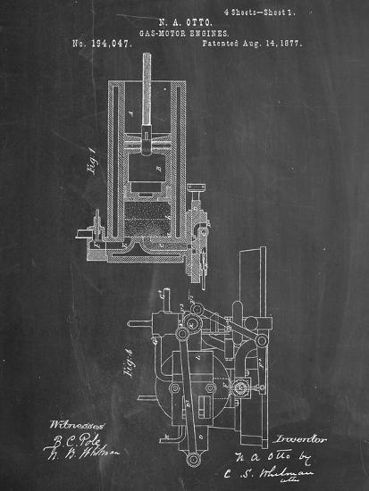 Gas Motor Engine Patent--Art Print