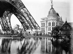 Gas Pavilion and Swedish Chalet, Paris Exhibition, 1889