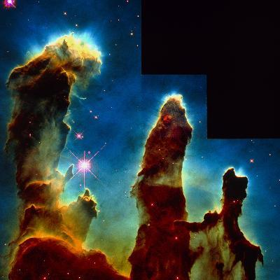 Gas Pillars In Eagle Nebula--Photographic Print