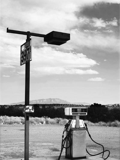 Gas Pump and New Mexico Landscape Sky, San Ysidro 2-Kevin Lange-Photographic Print