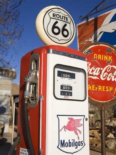 Gas Pump, General Store and Route 66 Museum, Hackberry, Arizona, USA-Richard Cummins-Photographic Print