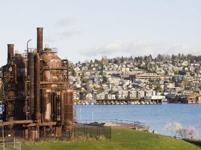 Gas Works Park, Lake Union, Seattle, Washington State, United States of America, North America-Christian Kober-Photographic Print