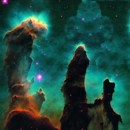 Gaseous Pillars in the Eagle Nebula-Digital Vision.-Photographic Print