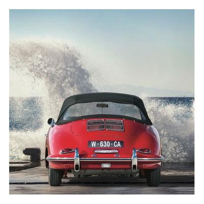 Ocean Waves Breaking on Vintage Beauties (detail 1)