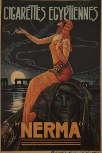 Egyptian Cigarettes Nerma, 1924 by Gaspar Camps