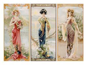 Three Silk Panels by Gaspar Camps