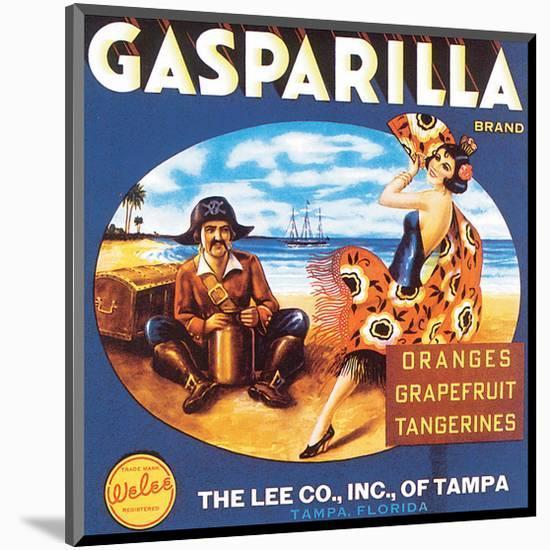 Gasparilla Citrus, Florida-null-Mounted Art Print