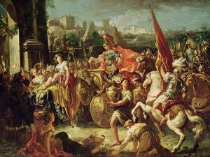 The Entrance of Alexander the Great (356-23 BC) into Babylon by Gasparo Diziani