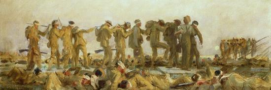Gassed, an Oil Study, 1918-19-John Singer Sargent-Giclee Print