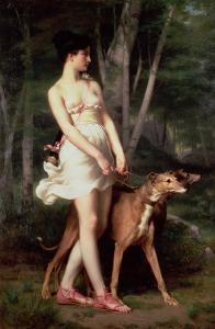Diana the Huntress by Gaston Casimir Saint-Pierre