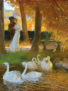 Lovers and Swans by Gaston Latouche