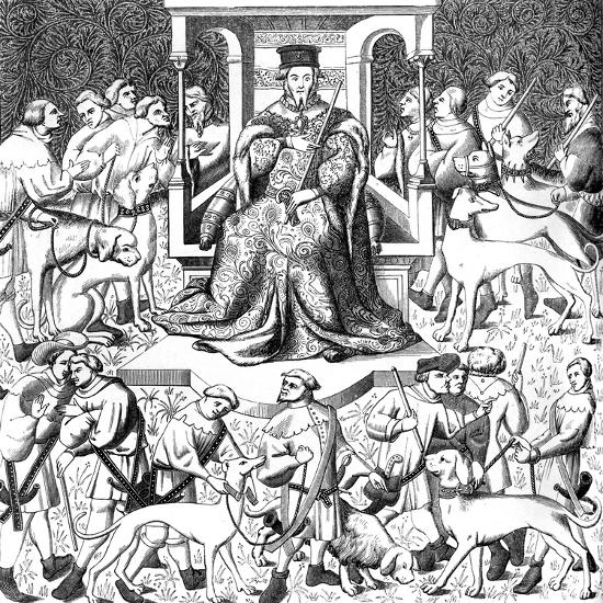 Gaston Phoebus Teaching the Art of Venery, 15th Century--Giclee Print