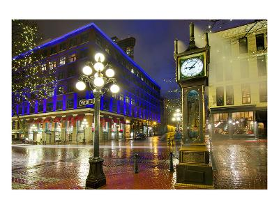 Gastown Steam Clock Vancouver--Art Print