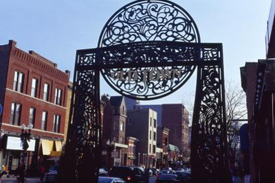 Gate at Old Town, Chicago, Cook County, Illinois, USA