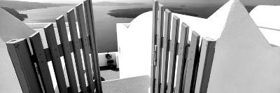 Gate at the Terrace of a House, Santorini, Cyclades Islands, Greece--Photographic Print