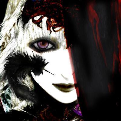 Gate Keeper: Black &Purple-Meiya Y-Giclee Print
