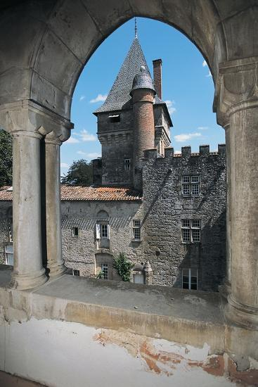 Gate of a Castle, Montespieu Castle, Midi-Pyrenees, France--Photographic Print