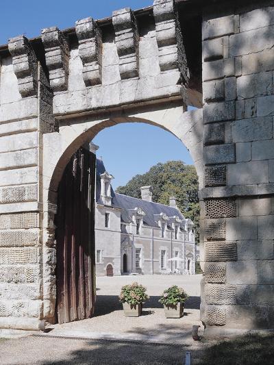 Gate of a Castle, Reugny, La Valliere Castle, Centre, France--Photographic Print