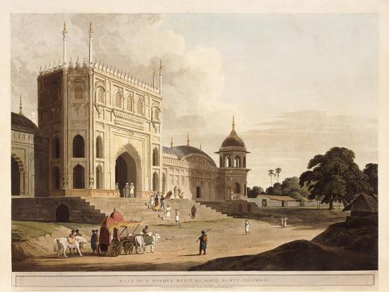 Gate of a Mosque Built by Hafiz Ramut, Pillibeat, 1825-1826-Thomas & William Daniell-Giclee Print
