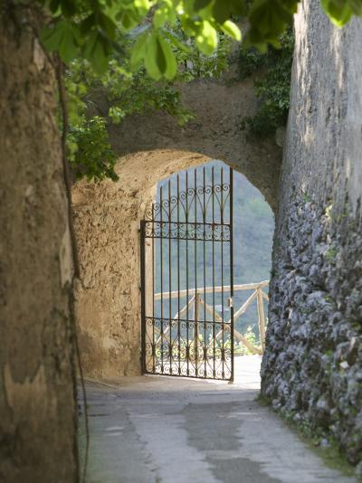 Gate of a Villa, Ravello, Salerno, Campania, Italy--Photographic Print
