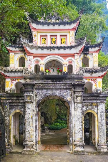 Gate of Bich Dong Pagoda, Hoa Lu District, Ninh Binh Province, Vietnam, Indochina, Southeast Asia-Jason Langley-Photographic Print