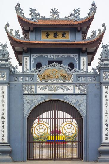 Gate of Chua Trinh Pagoda, Uong Bi, Quang Ninh Province, Vietnam, Indochina, Southeast Asia, Asia-Jason Langley-Photographic Print