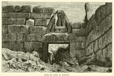 Gate of Lions at Mycenae--Giclee Print