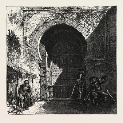 Gate of the Mosque in the Alhambra, Ganada, Spain, 19th Century--Giclee Print