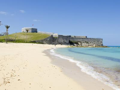 Gate's Bay (St. Catherine's Beach) With Fort St. Catherine in Background, Bermuda-Michael DeFreitas-Photographic Print