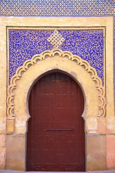 Gate to Royal Palace, Meknes, Morocco, North Africa, Africa-Neil Farrin-Photographic Print