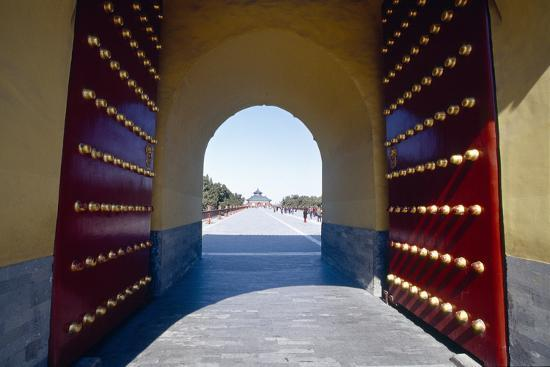 Gate to the Temple of Heaven, Beijing, China-George Oze-Photographic Print