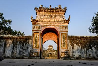 Gate, Tomb of Emperor Tu Duc of Nguyen Dynasty, Dated 1864, Group of Hue Monuments-Nathalie Cuvelier-Photographic Print