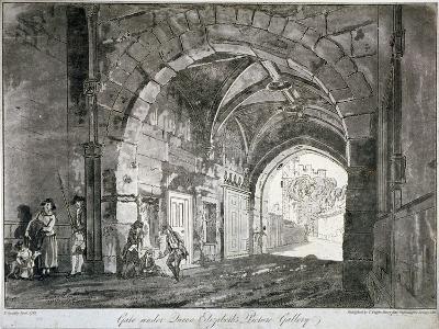 Gate under Queen Elizabeth's Picture Gallery, Windsor Castle, Berkshire, 1812-Paul Sandby-Giclee Print